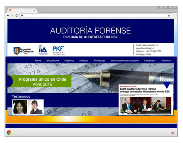 auditoria forense web