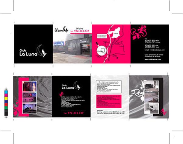 club luna Barcelona  flyer