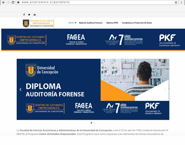 web auditoria forense Chile